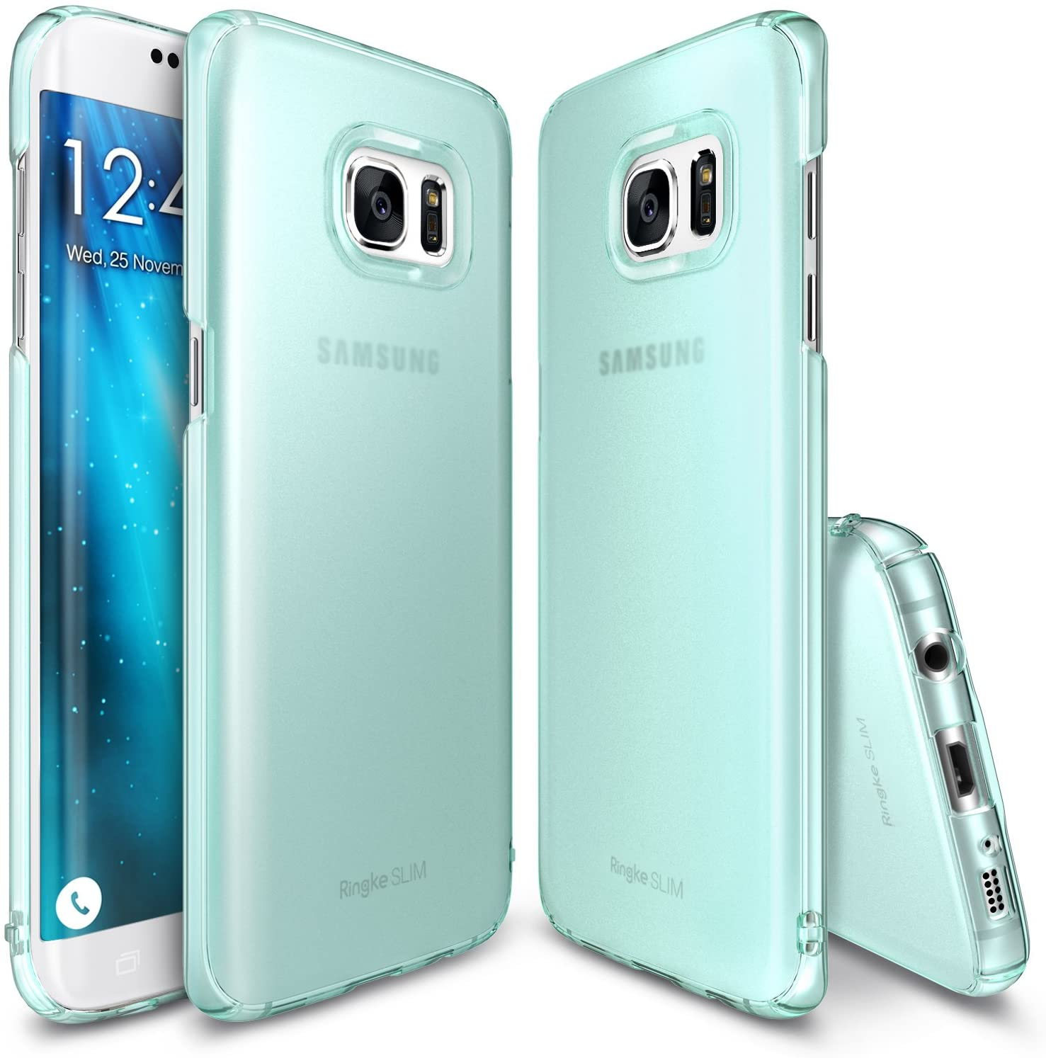 ringke slim premium pc hard cover case for galaxy s7 edge frost mint