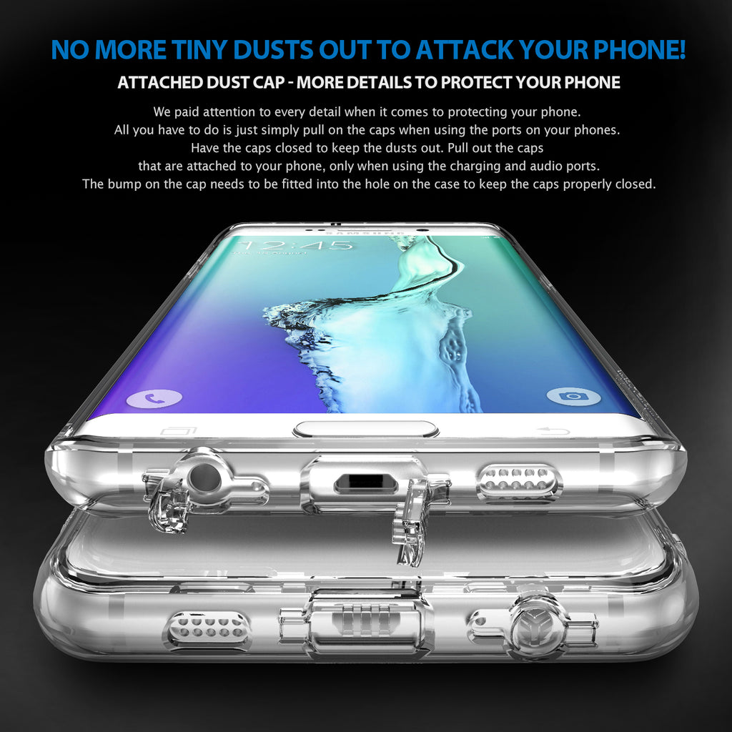 ringke fusion transparent clear hard back cover case for galaxy s6 edge plus