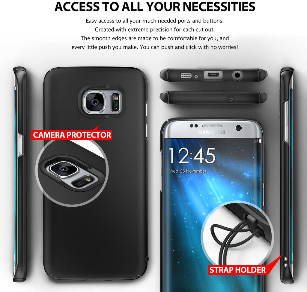 ringke slim premium pc hard cover case for galaxy s7 edge