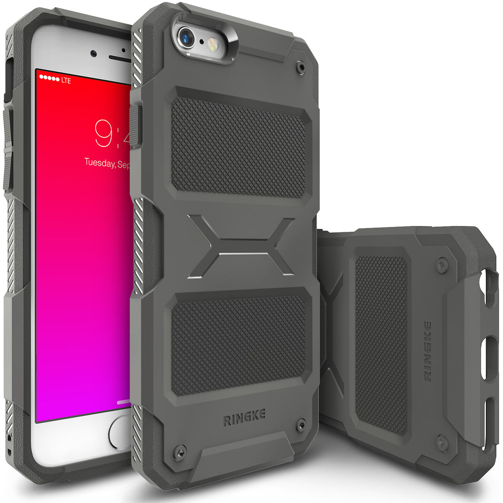ringke rebel rugged heavy duty protective case cover for iphone 6 plus 6s plus main gray