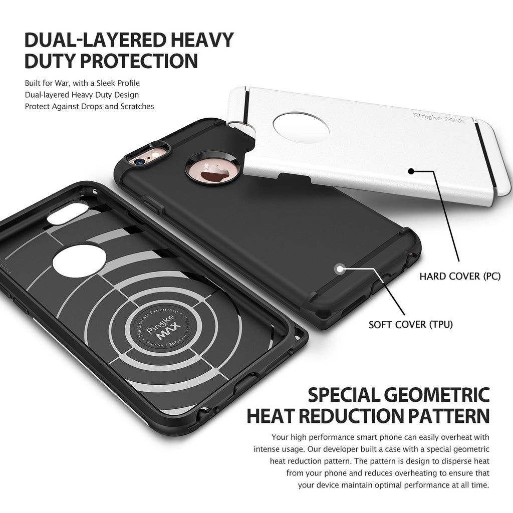 ringke max heavy duty rugged hard case cover for iphone 6 6s main layers