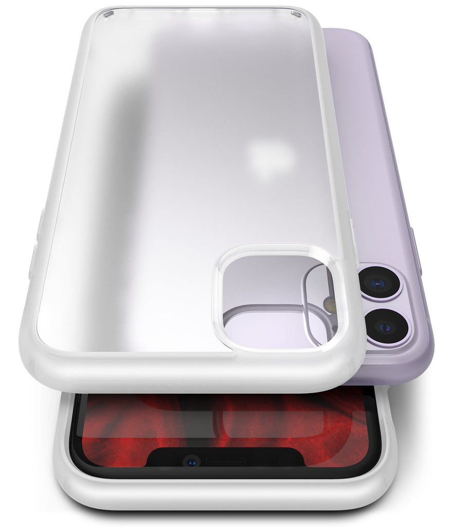 Ringke Fusion Matte for iPhone 11 Anti-Fingerprint Frosted PC Case Frost White