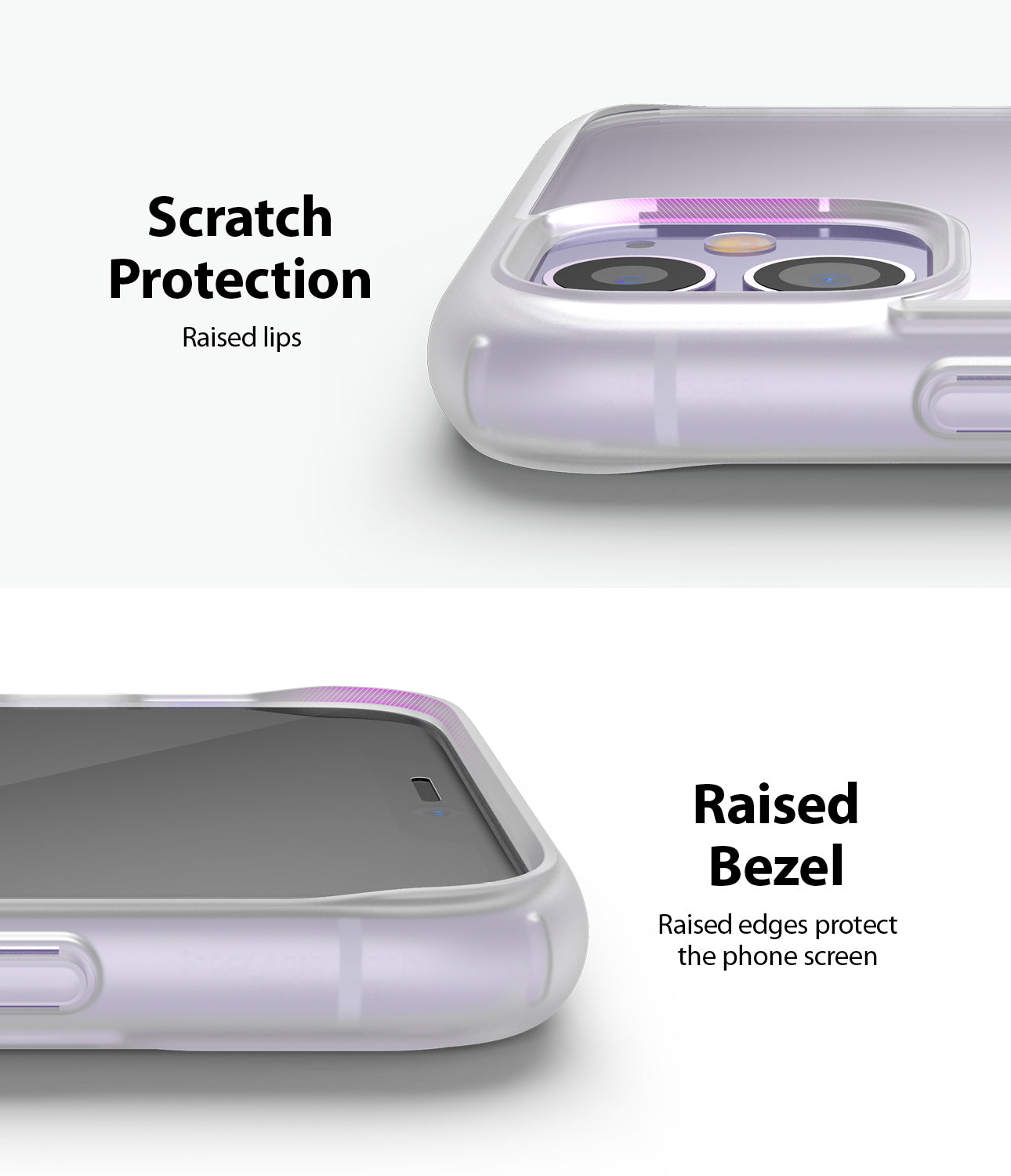 Ringke Fusion Matte for iPhone 11 Anti-Fingerprint Frosted PC Case Scratch Protection Raised Bezel