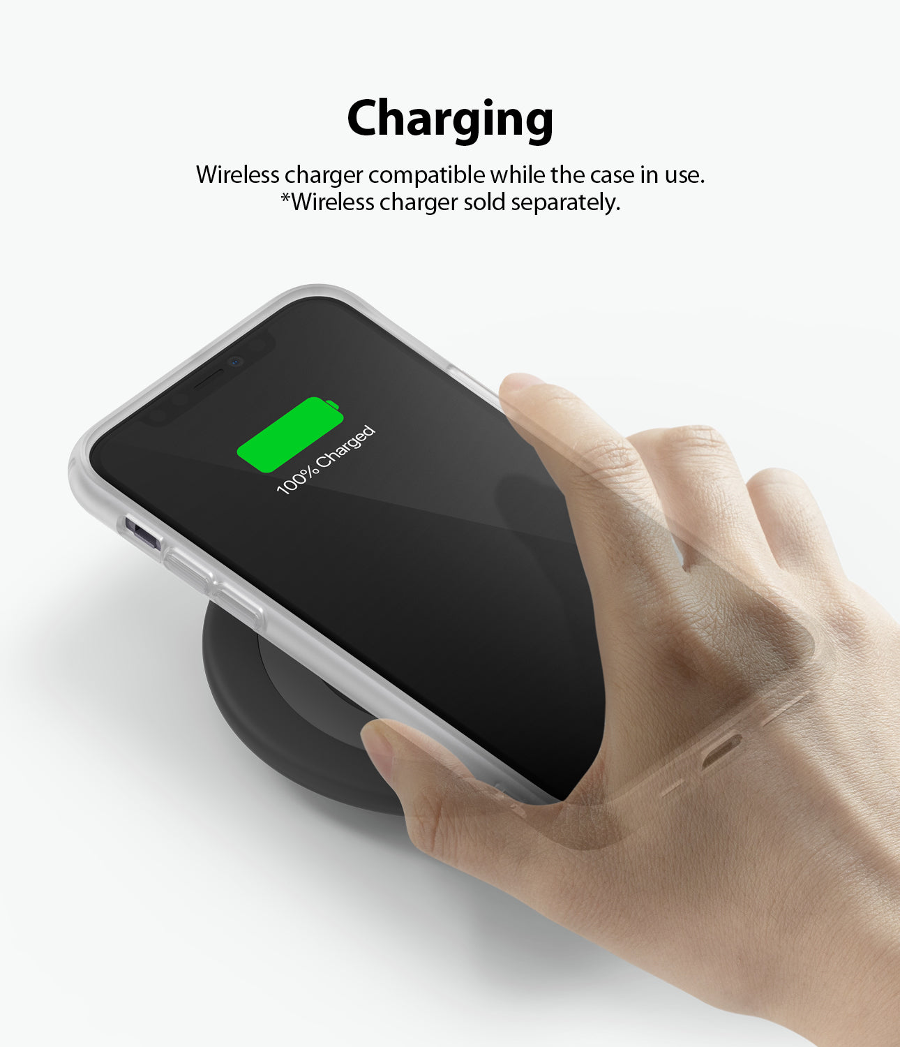 Ringke Fusion Matte for iPhone 11 Anti-Fingerprint Frosted PC Case Wireless Charger Compatible