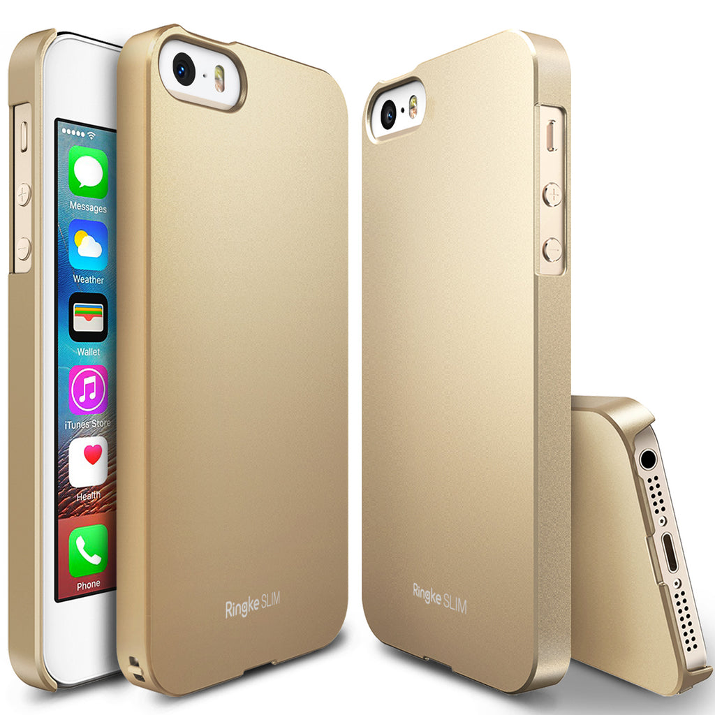 ringke slim lightweight hard pc thin case cover for iphone se 5s 5 main royal gold