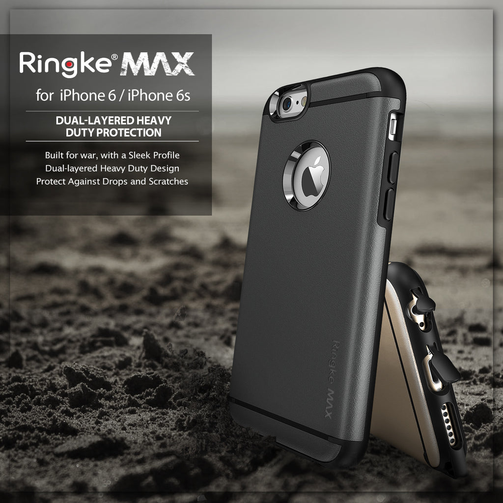 ringke max heavy duty rugged hard case cover for iphone 6 6s main drop protection