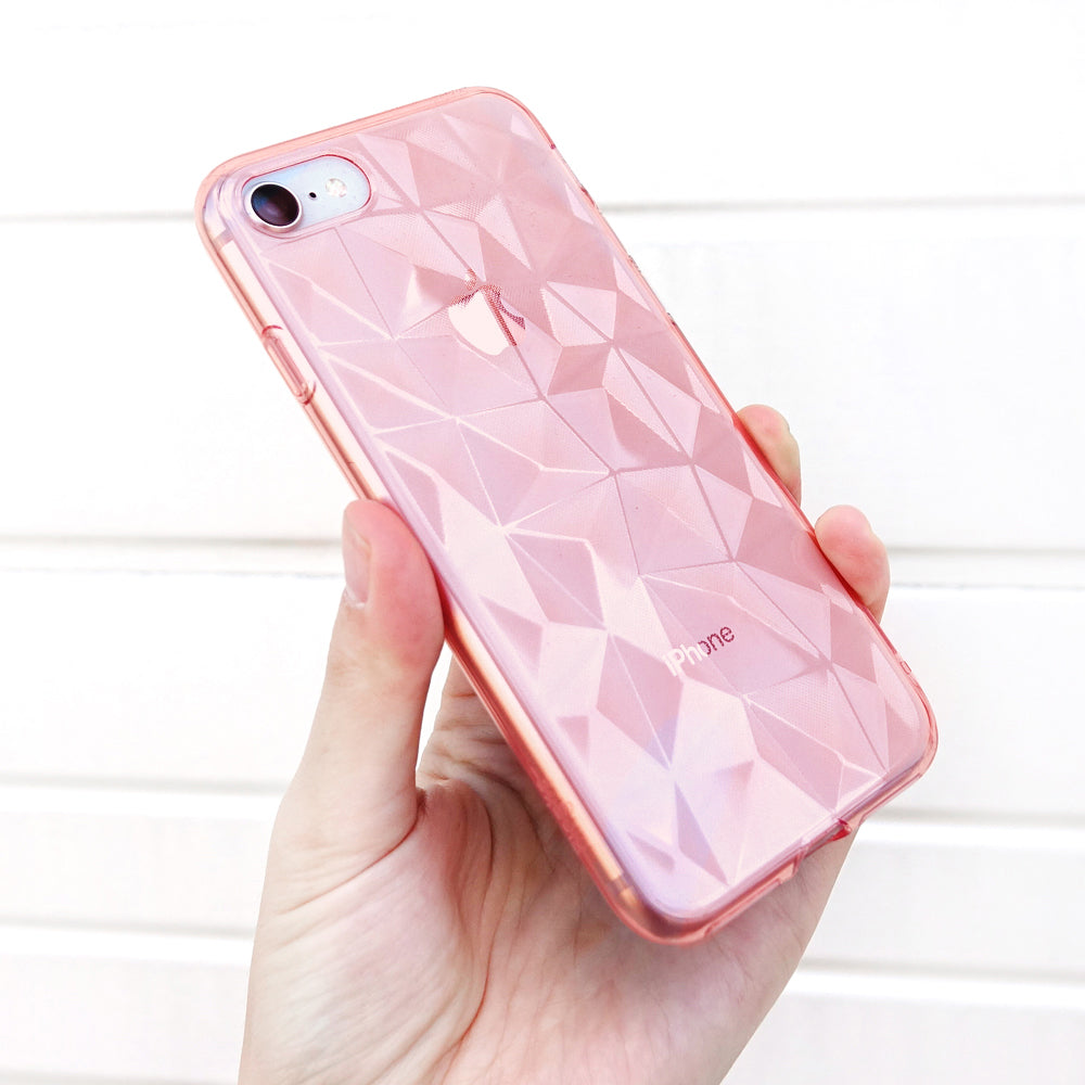 ringke air prism 3d pyramid design back case cover for iphone 7 8 main rose gold real