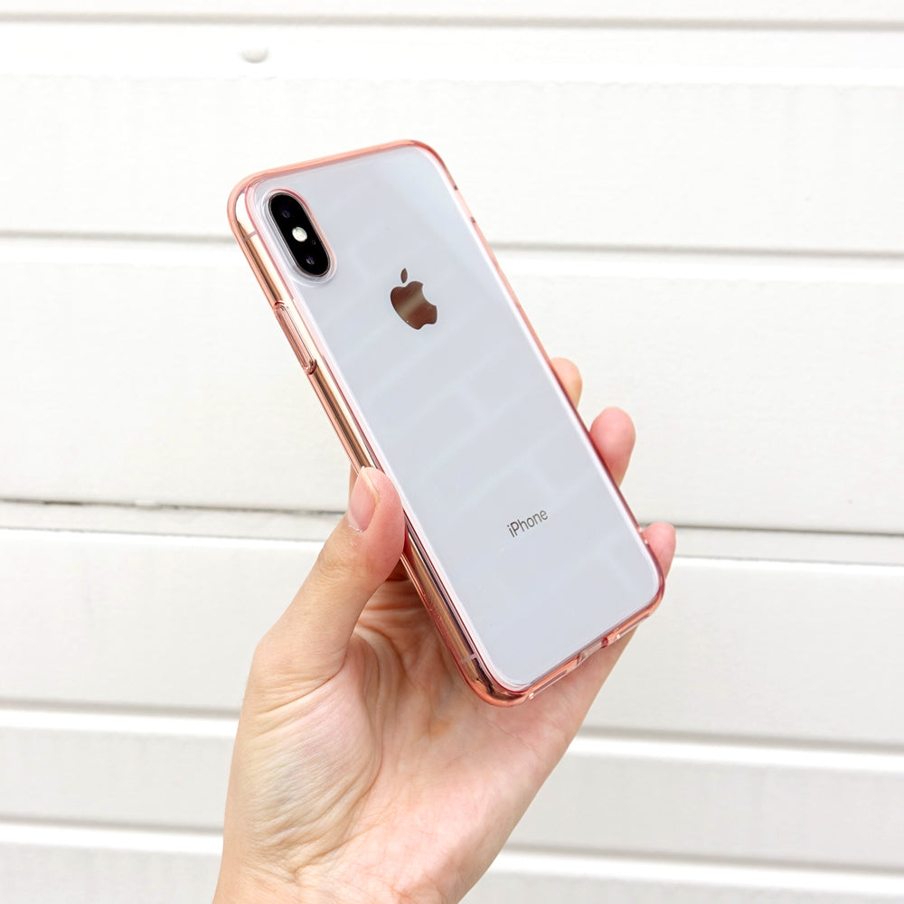 ringke fusion for iphone x case cover main rose gold real