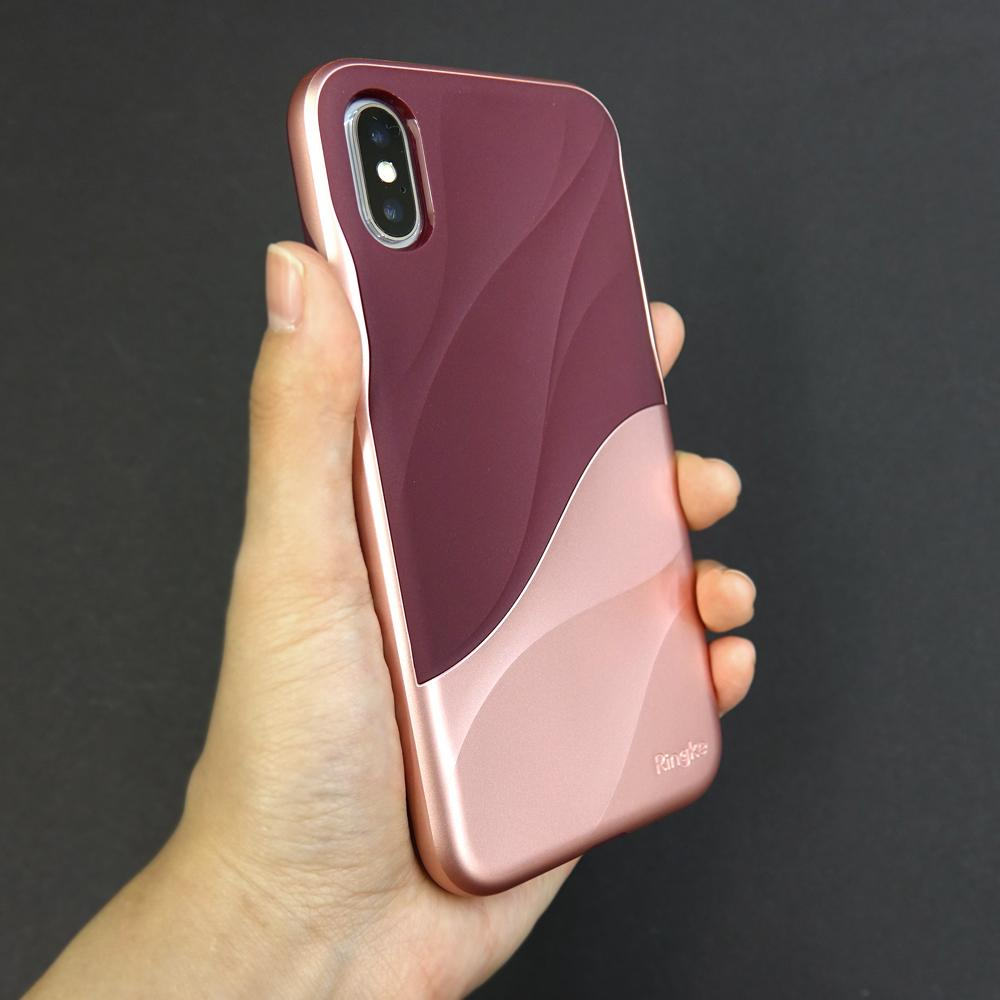 ringke wave for iphone x case cover main rose blush real