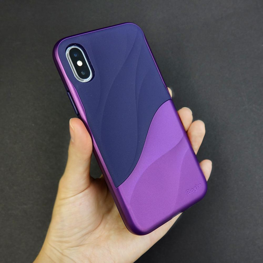 ringke wave for iphone x case cover main metallic purple real