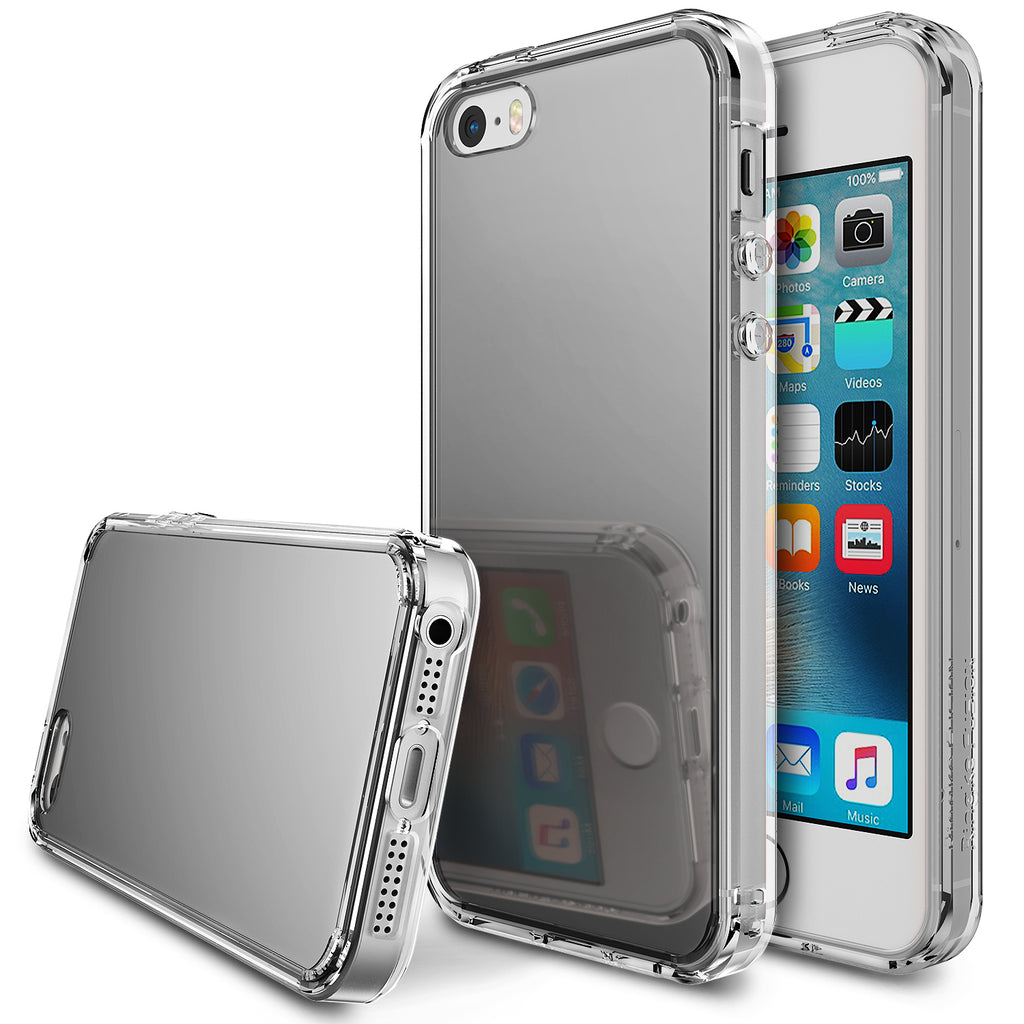 ringke mirror back case cover for iphone se 5s 5 main silver