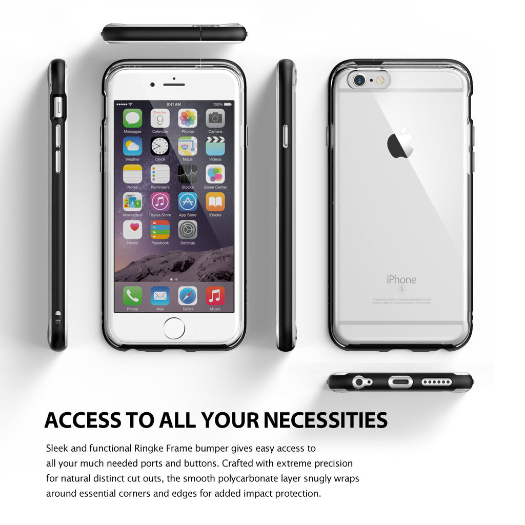 ringke frame bezel side protection case cover for iphone 6 6s main access all ports