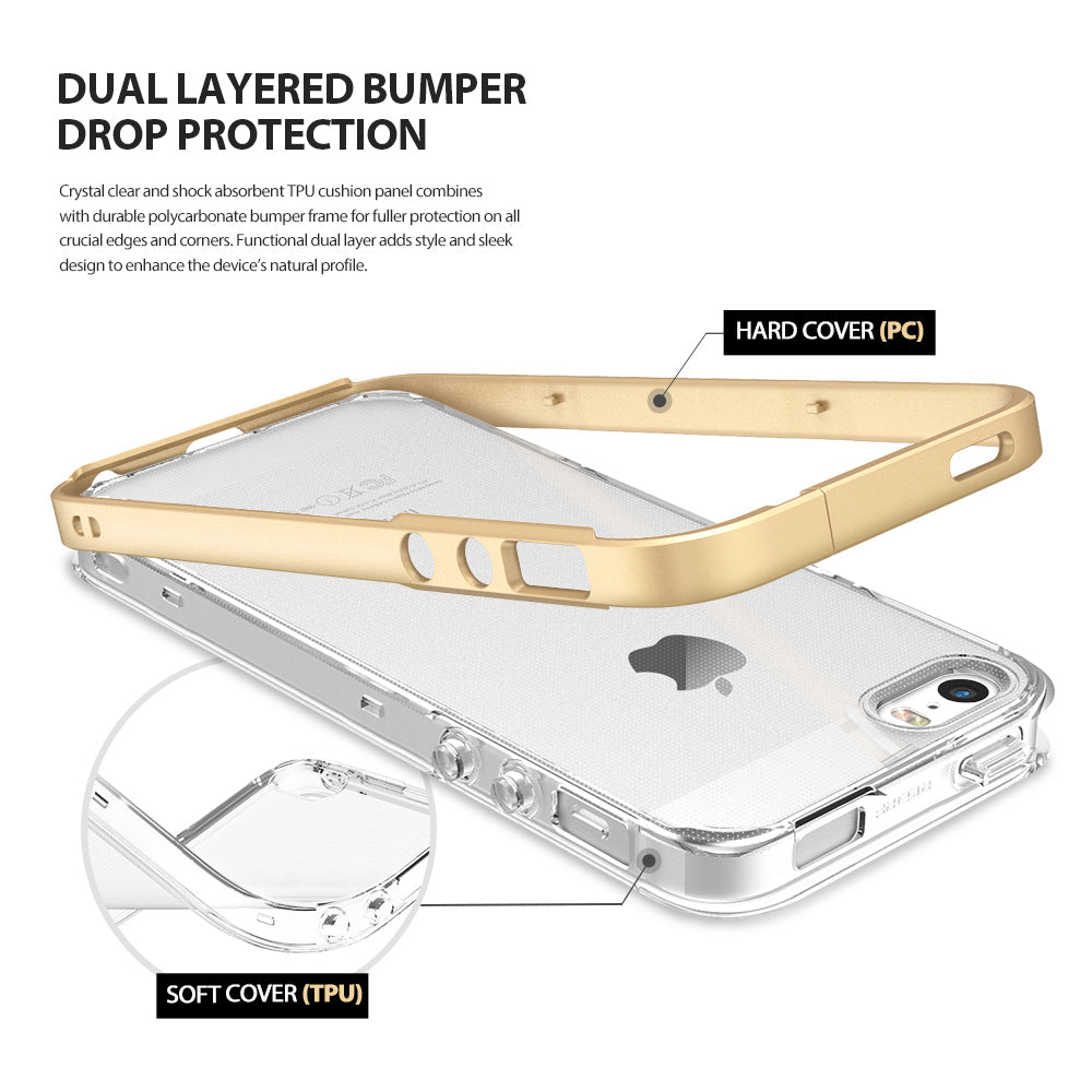 ringke frame heavy duty bumper case cover for iphone se 5s 5 main easy installation