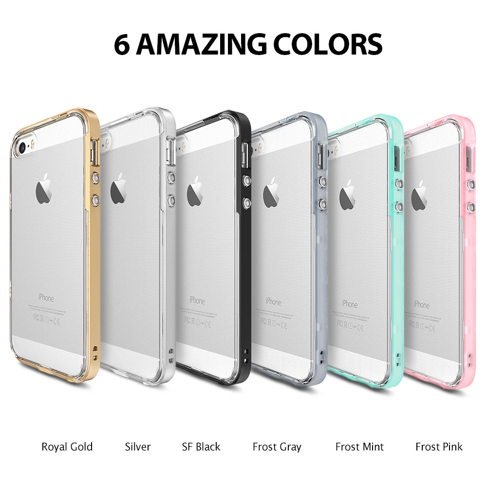 ringke frame heavy duty bumper case cover for iphone se 5s 5 main colors