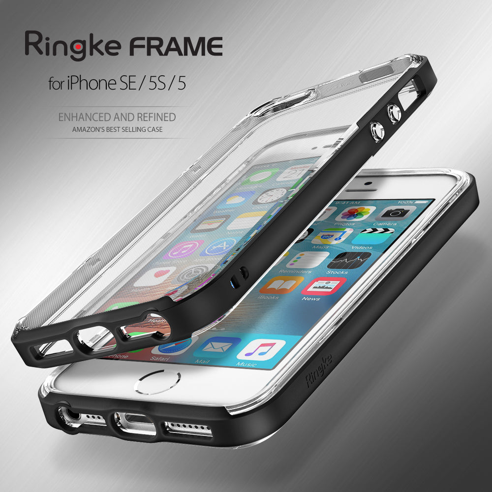 ringke frame heavy duty bumper case cover for iphone se 5s 5 main