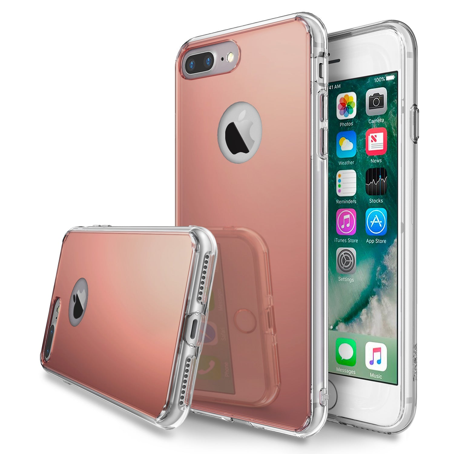 ringke mirror back case cover for iphone 7 plus 8 plus main rose gold