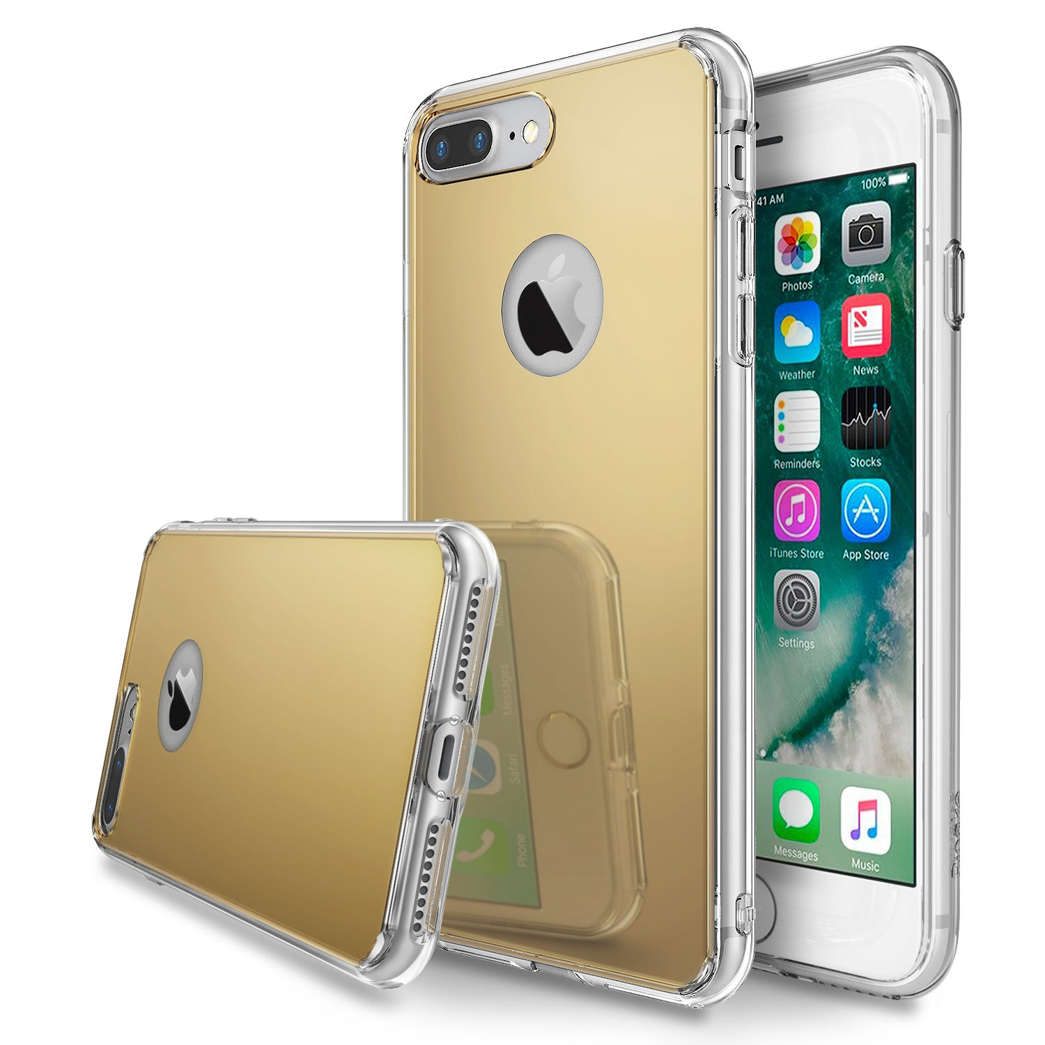 ringke mirror back case cover for iphone 7 plus 8 plus main royal gold