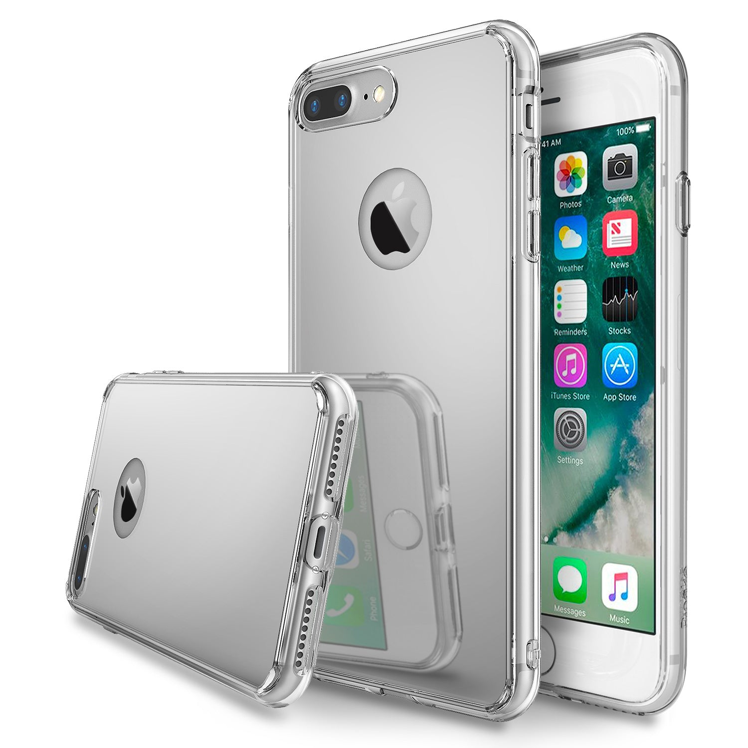 ringke mirror back case cover for iphone 7 plus 8 plus main silver