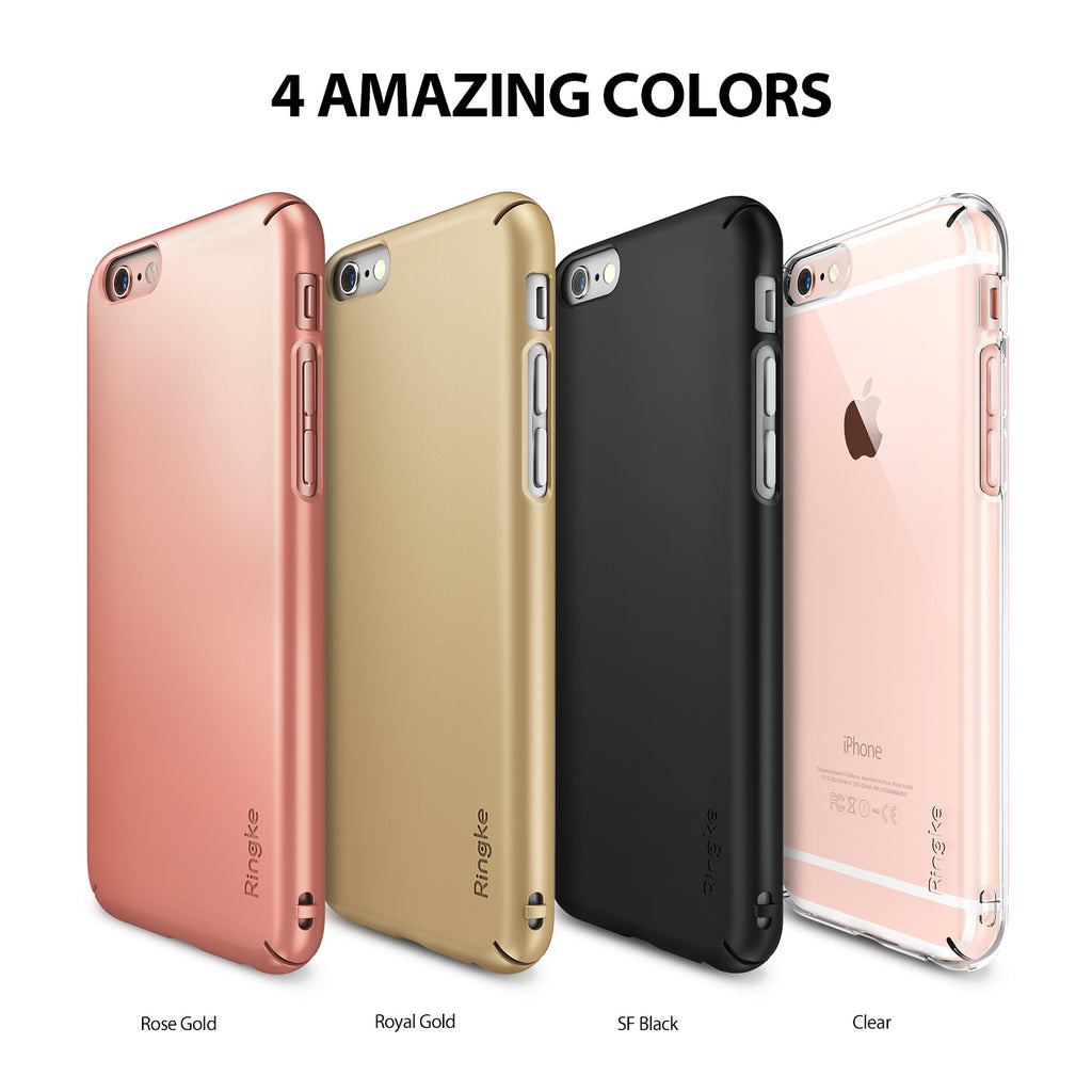 ringke slim lightweight hard pc thin case cover for iphone 6s plus main colors