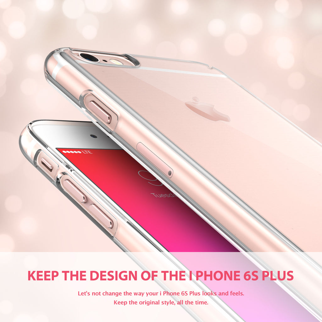 ringke slim lightweight hard pc thin case cover for iphone 6s plus main transparent clear