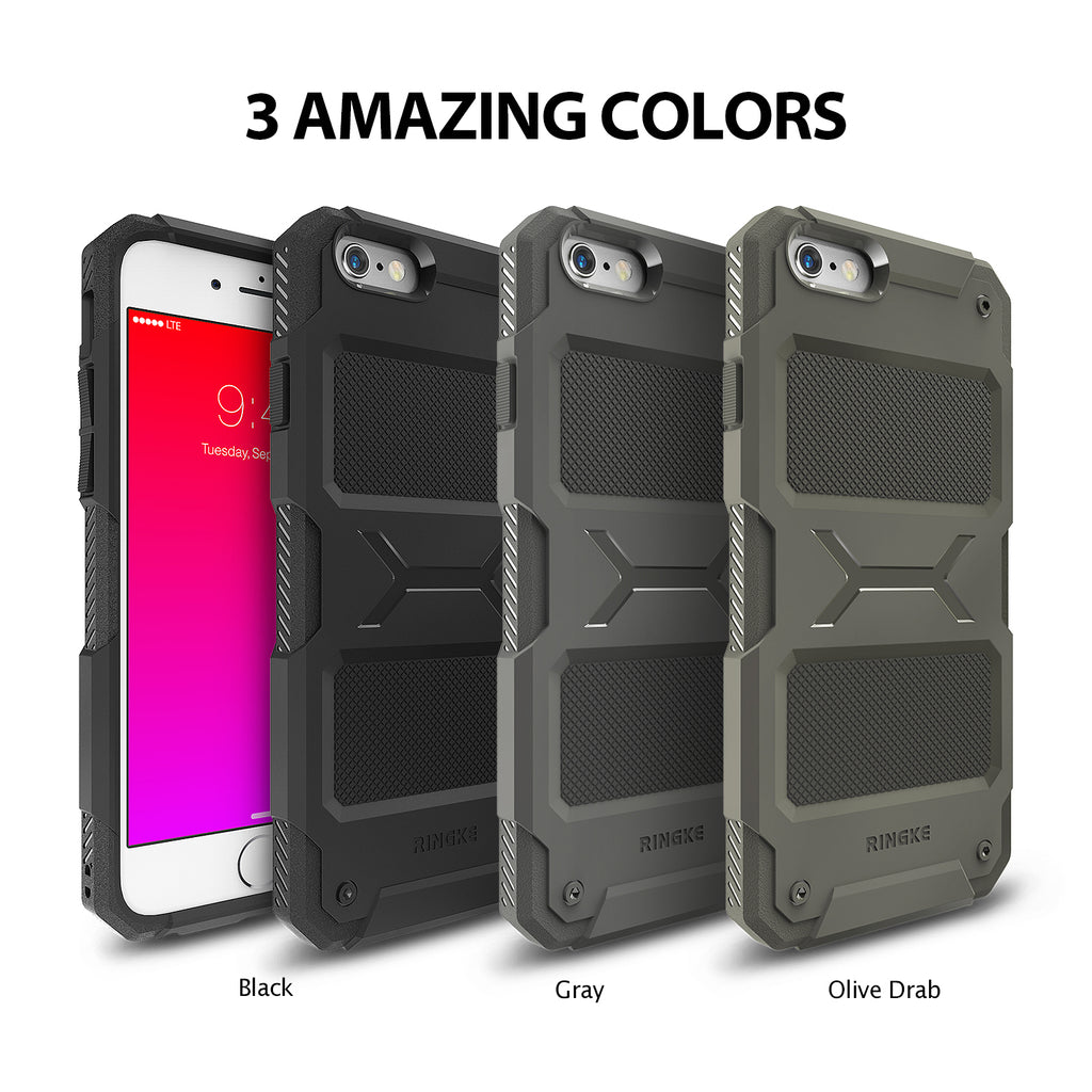 ringke rebel rugged heavy duty protective case cover for iphone 6 plus 6s plus main colors