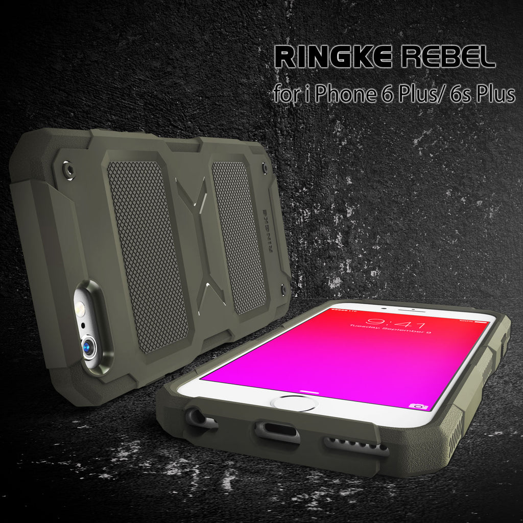 ringke rebel rugged heavy duty protective case cover for iphone 6 plus 6s plus main