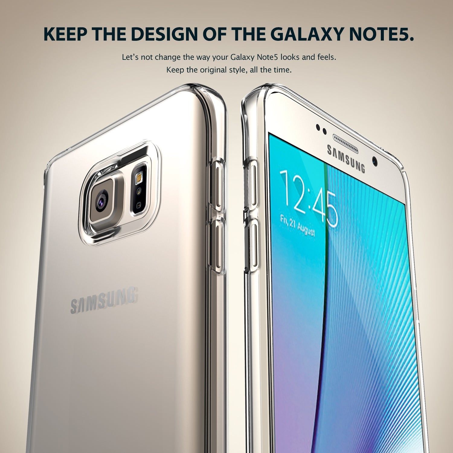 keep the design of the galaxy note 5