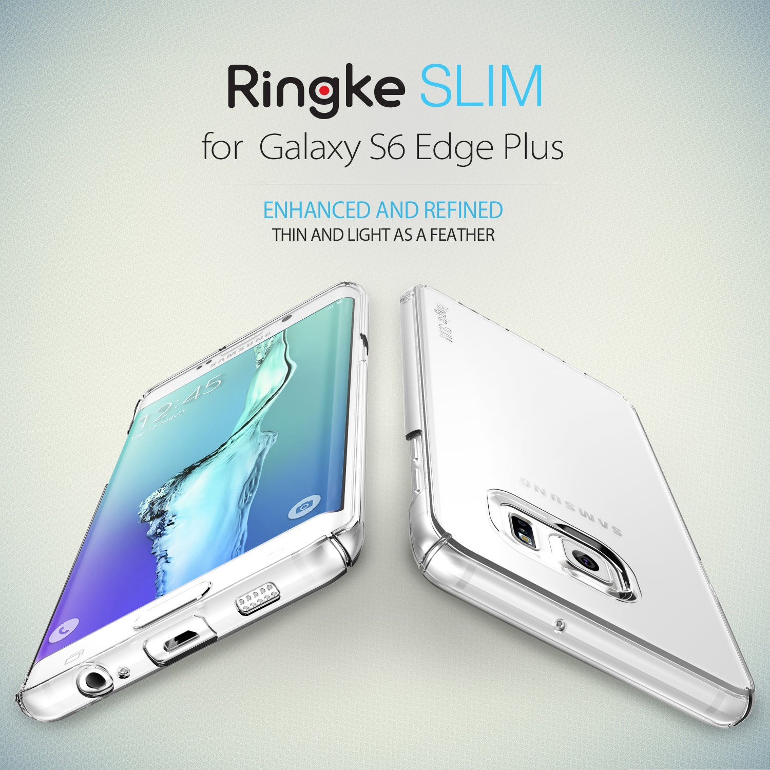 ringke slim premium thin hard pc lightweight cover case for galaxy s6 edge plus