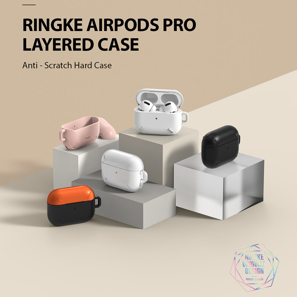 ringke layered case for apple airpods pro made with scratch resistant hard pc - various colors available