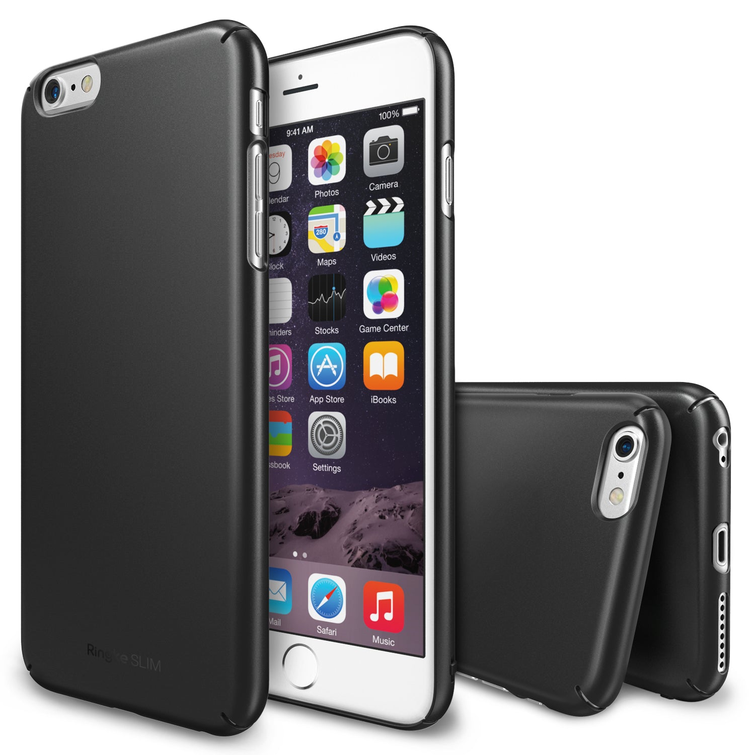ringke slim lightweight hard pc thin case cover for iphone 6 plus main gun metal