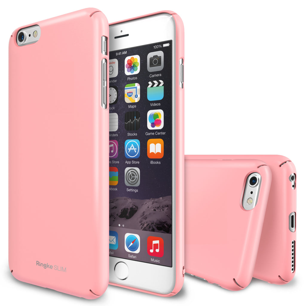 ringke slim lightweight hard pc thin case cover for iphone 6 plus main pink