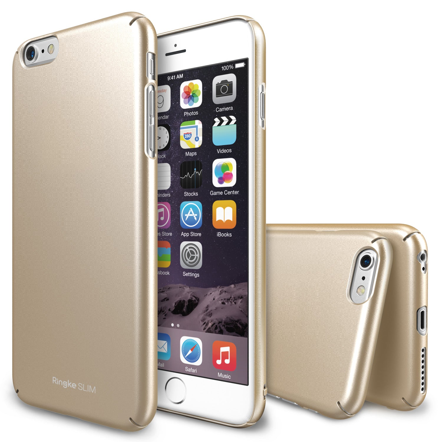 ringke slim lightweight hard pc thin case cover for iphone 6 plus main royal gold