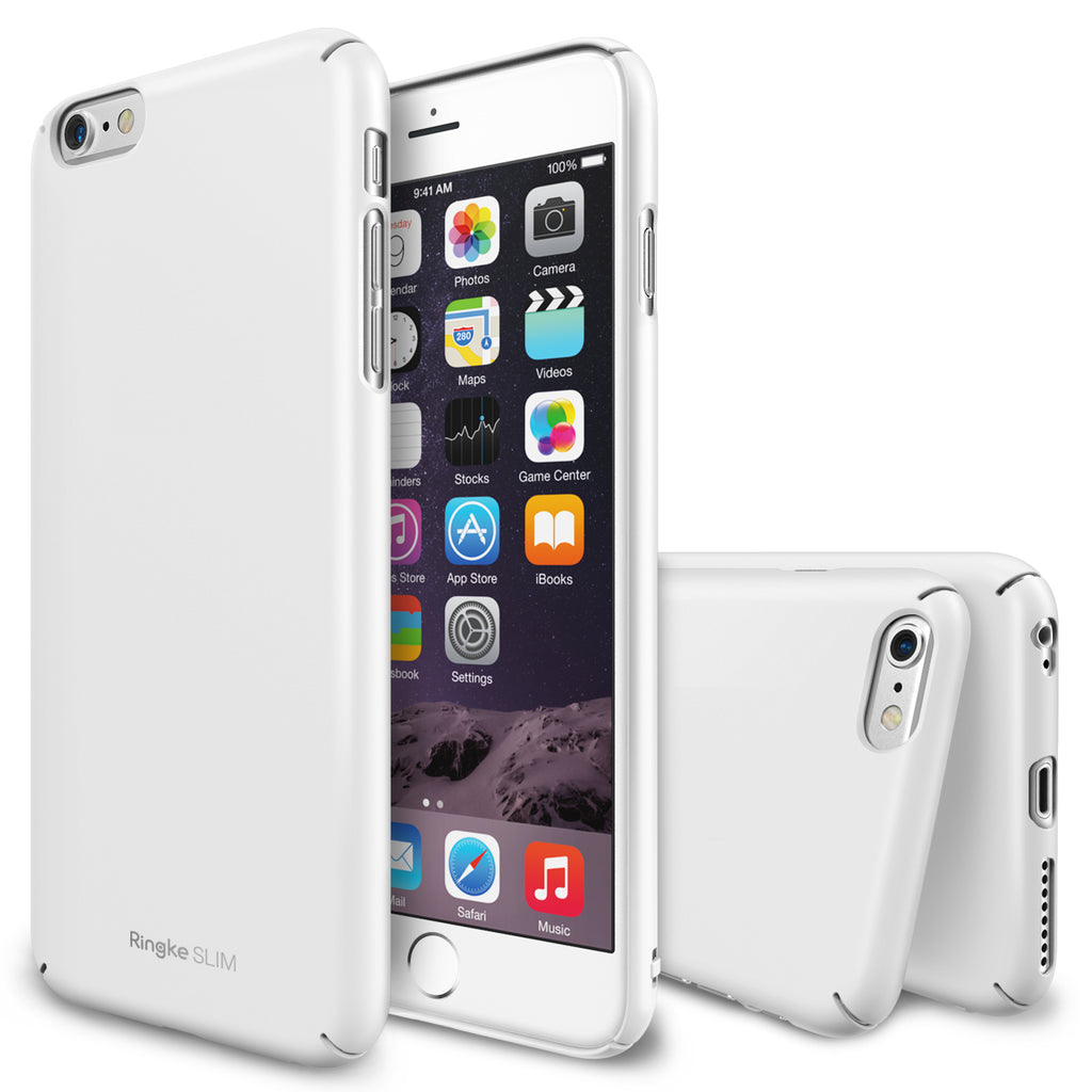 ringke slim lightweight hard pc thin case cover for iphone 6 plus main white