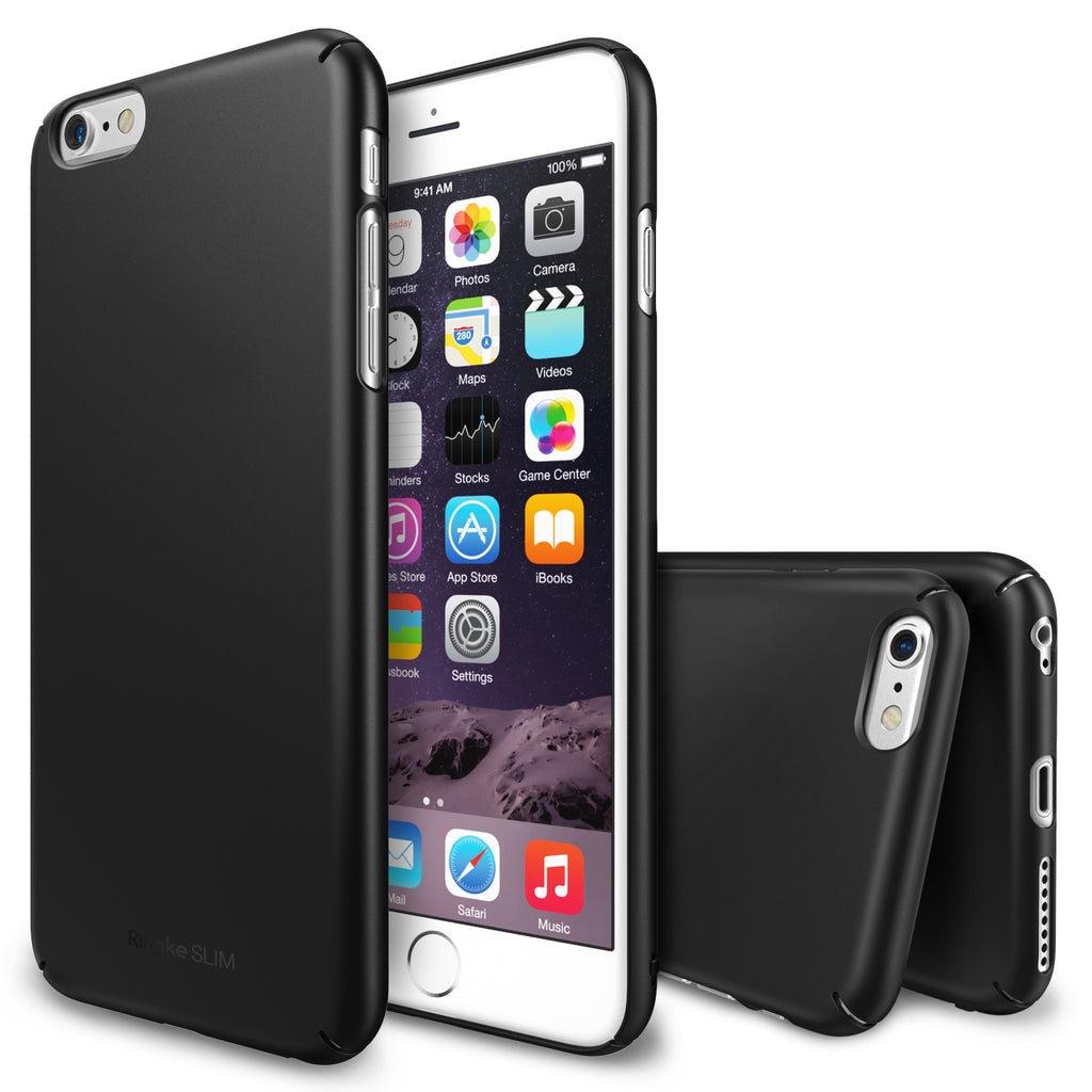ringke slim lightweight hard pc thin case cover for iphone 6 plus main black