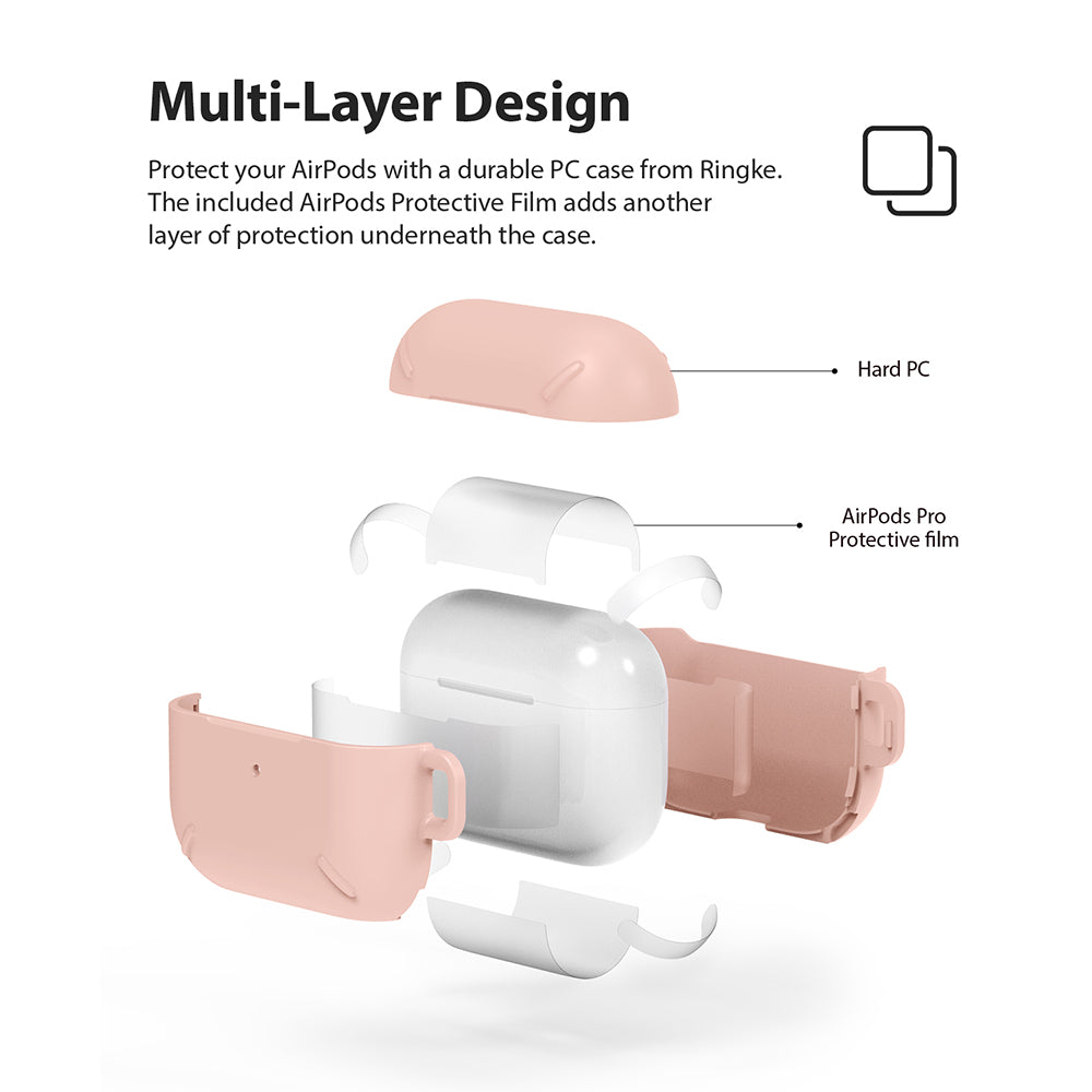 ringke layered case for apple airpods pro made with scratch resistant hard pc - multi layer design with inner protective film