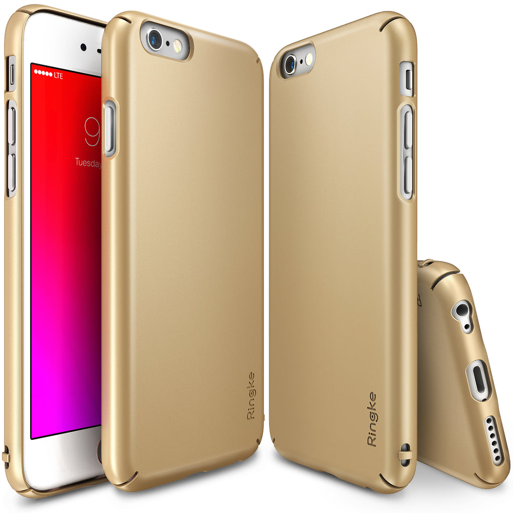 ringke slim lightweight hard pc thin case cover for iphone 6s plus main royal gold