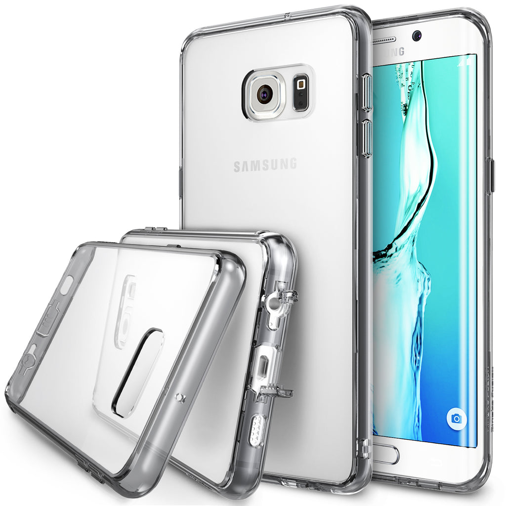 ringke fusion transparent clear hard back cover case for galaxy s6 edge plus smoke black