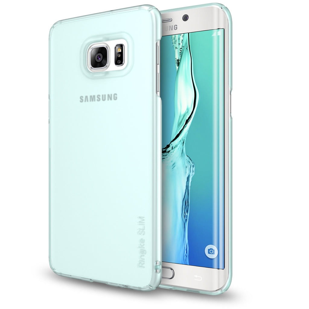 ringke slim premium thin hard pc lightweight cover case for galaxy s6 edge plus frost mint
