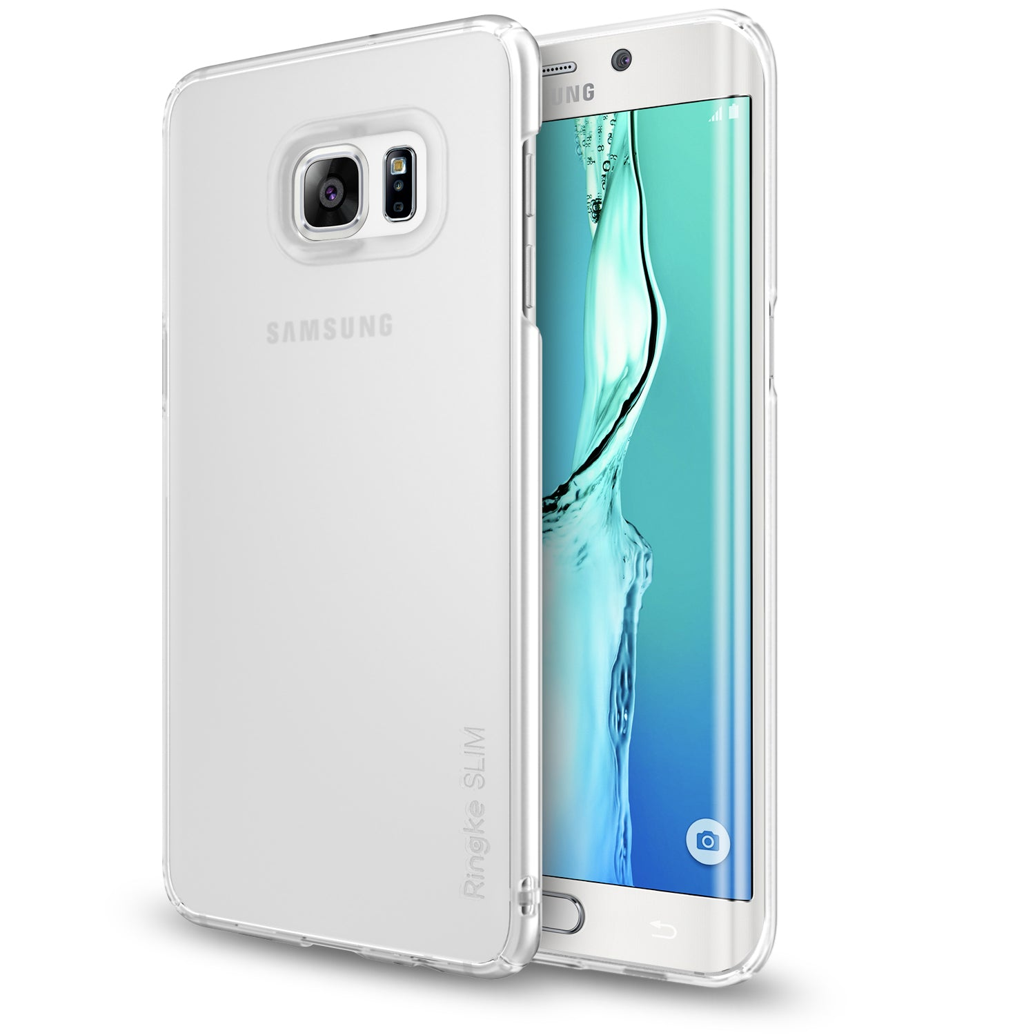 ringke slim premium thin hard pc lightweight cover case for galaxy s6 edge plus frost white