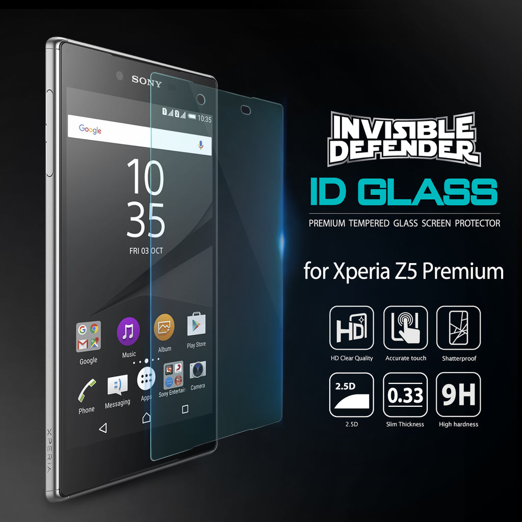ringke invisible defender glass for sony xperia z5 premium