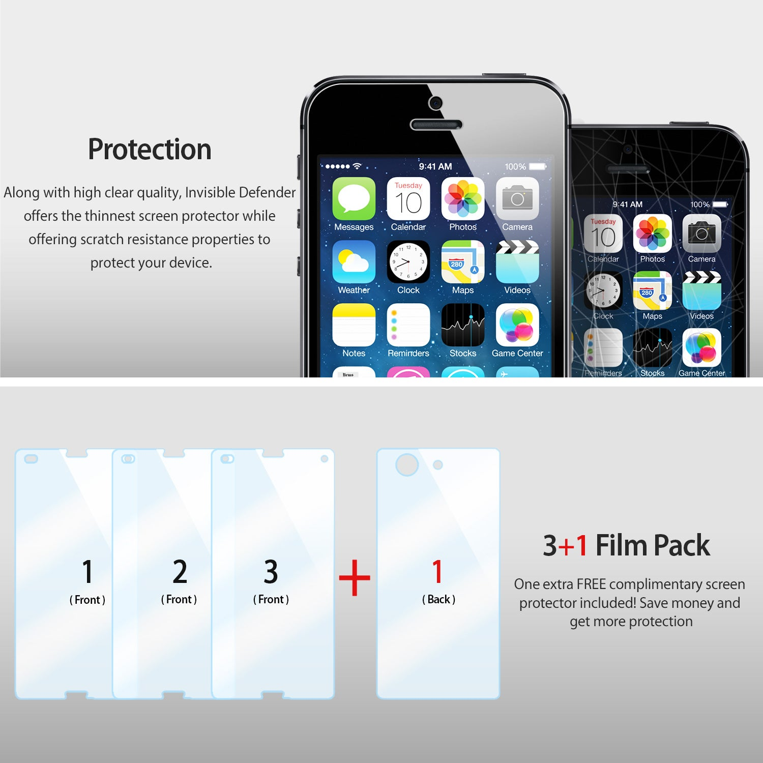 enhanced protection with 3+1 pack