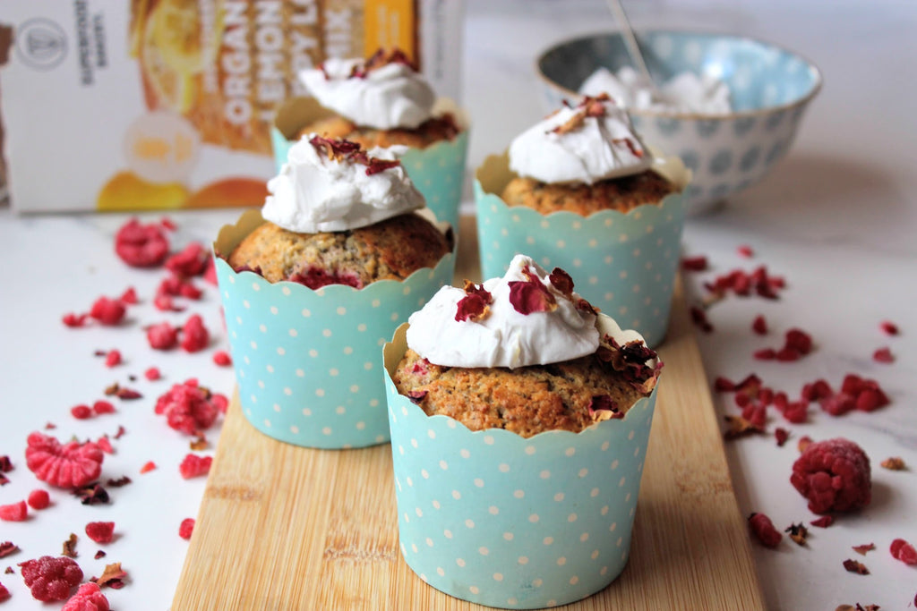 LEMON & RASPBERRY POPPY SEED MUFFINS