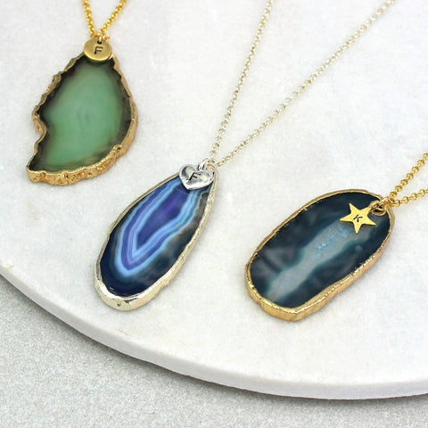 agate statement pendant