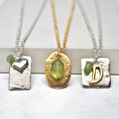 Peridot birthstone necklace August birthstone necklace gift