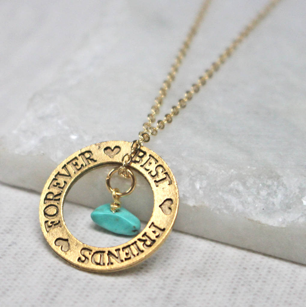 Close up of Best Friend Birthstone Necklace