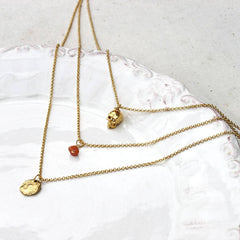 24ct Gold plated Layered Charm Necklace