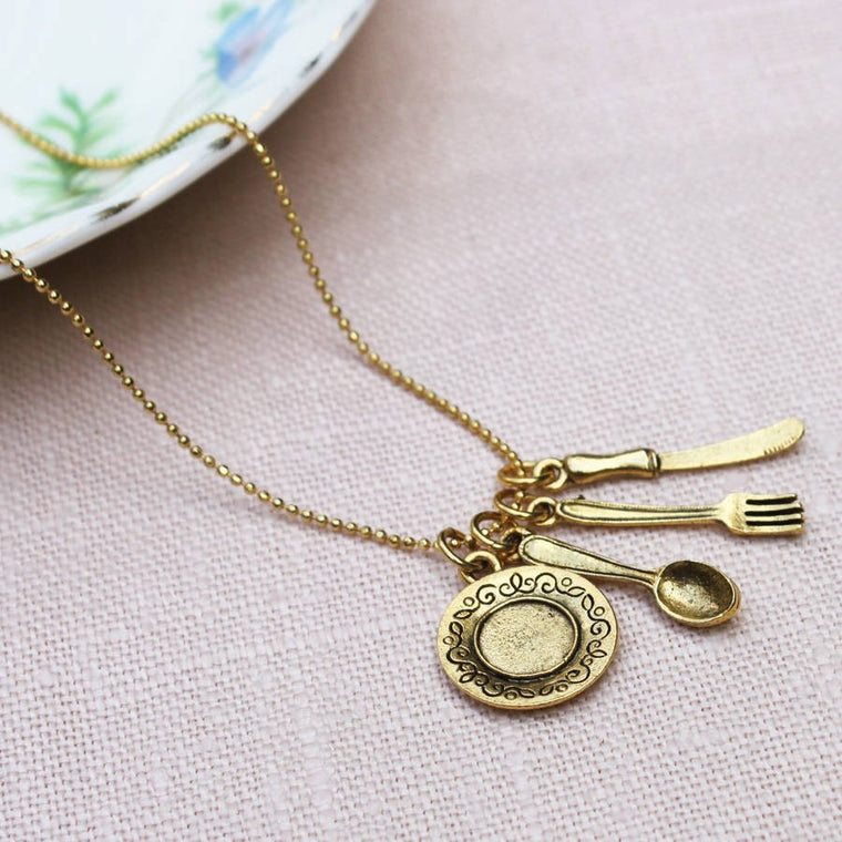 Place Setting Charm Necklace