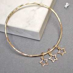 Delicate Star Bangle, Gold