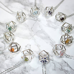 Geometric June Birthstone Necklace birthstone selection