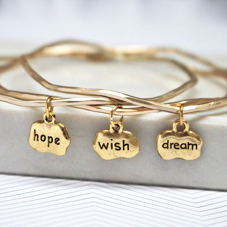 Hope Wish Dream Mantra Bangles